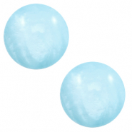 12 mm classic Polaris Elements cabochon Mosso shiny Sky blue