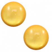 7 mm classic Polaris Elements cabochon soft tone shiny Mineral yellow