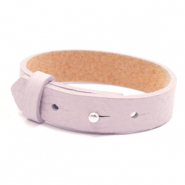 Armbanden Cuoio leer 15 mm voor 20 mm cabochon Light orchid pink