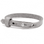 Cuoio armband voor kids 8mm voor 12mm cabochon Concrete grey