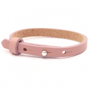 Cuoio armband voor kids 8mm voor 12mm cabochon Rose dawn pink