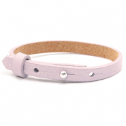 Cuoio armband voor kids 8mm voor 12mm cabochon Light orchid pink