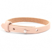 Cuoio armband voor kids 8mm voor 12mm cabochon Delicacy pink