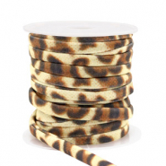 Elastisch stitched lint leopard Gold brown