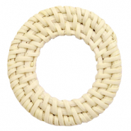 Geweven rotan hangers rond 45-50mm Naturel beige