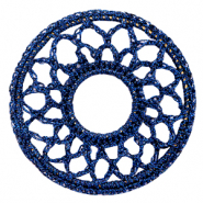 Gehaakte hangers rond 54mm Denim blue