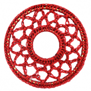 Gehaakte hangers rond 54mm Port red