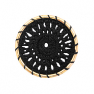 Gehaakte hangers rond 33mm Gold-black