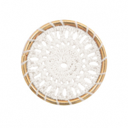 Gehaakte hangers rond 33mm Gold-white