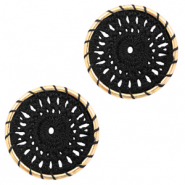 Gehaakte hangers rond 22mm Gold-black