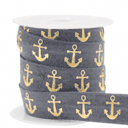 Elastich lint anchor Anthracite-gold