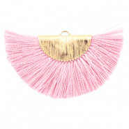 Kwastje hanger Light pink-gold