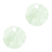 Hangers van resin rond 12mm Bit of green