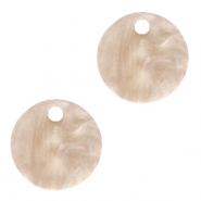 Hangers van resin rond 12mm Light semolina beige