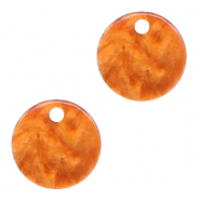 Hangers van resin rond 12mm Flame orange