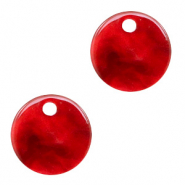 Hangers van resin rond 12mm Cherry red