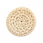 Geweven rotan hangers rond 35mm Naturel beige