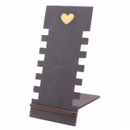 "Sieraden display hout ""Heart"" Black"