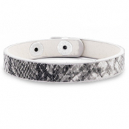Hippe armbanden snake Anthracite grey