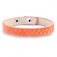 Hippe armbanden snake Living coral red