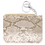 Hippe Portemonnees snake Champagne beige