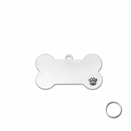 ImpressArt slagletterplaatjes DIY Pet Tag kit Zilver