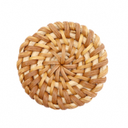 Geweven rotan hangers rond 35mm Natural brown