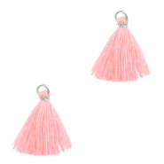 Kwastje 1.5cm Silver-bright pink