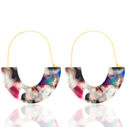 Musthave oorbellen resin Multicolour-gold