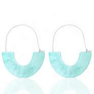 Musthave oorbellen resin Turquoise-silver