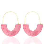 Musthave oorbellen resin Pink-gold