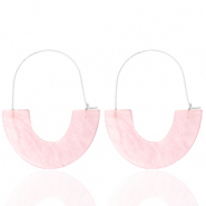 Musthave oorbellen resin Light pink-silver