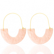 Musthave oorbellen resin Peach-gold