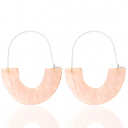 Musthave oorbellen resin Peach-silver