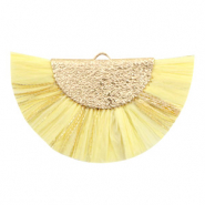 Kwastje hanger Gold-Sunshine yellow