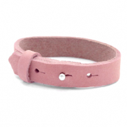 Armbanden Cuoio nubuck leer 15 mm voor 20 mm cabochon Pressed rose red