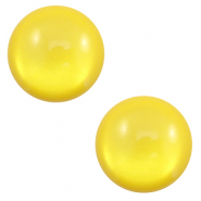 12 mm classic Polaris Elements cabochon soft tone shiny Empire yellow