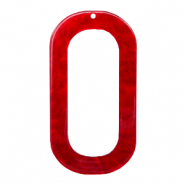 Hangers van resin langwerpig ovaal 56x30mm Cherry red