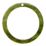 Hangers van resin rond 35mm  Olive green