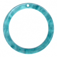 Hangers van resin rond 35mm  Blue atoll