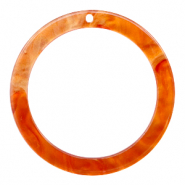 Hangers van resin rond 35mm  Flame orange