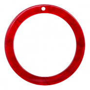 Hangers van resin rond 35mm  Cherry red