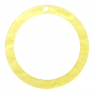 Hangers van resin rond 35mm  Sunshine yellow