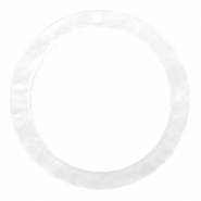 Hangers van resin rond 35mm  Bright white