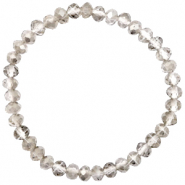 Facet armbanden top quality 6x4mm Greige crystal-pearl shine coating