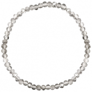 Facet armbanden top quality 4x3mm Greige crystal-pearl shine coating