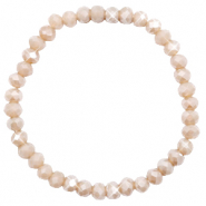 Facet armbanden top quality 6x4mm Champagne greige opal-pearl shine coating