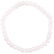 Facet armbanden top quality 6x4mm Light lavender pink opal-pearl shine coating