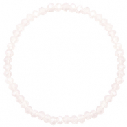 Facet armbanden top quality 4x3mm Light lavender pink opal-pearl shine coating