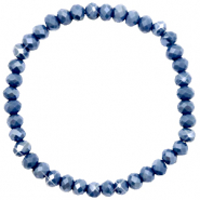 Facet armbanden top quality 6x4mm Crown blue-pearl shine coating